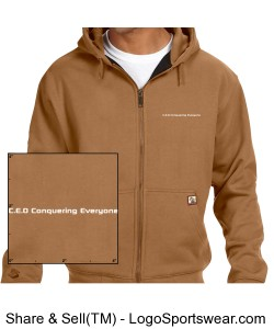 Crossfire Mens Thermal Lined Fleece Jacket Design Zoom